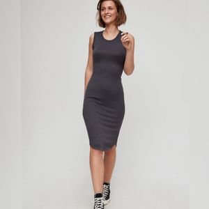 Wilfred grey Bruni dress | Aritzia